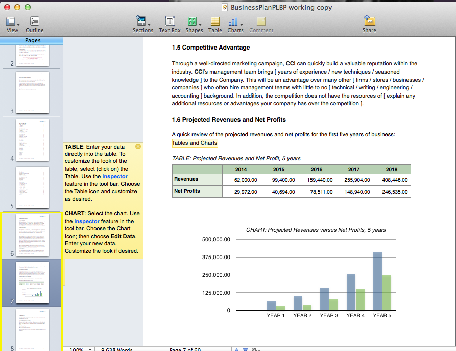 Business Plan Screenshots – iWork'09 « Perfect Little Business Plan